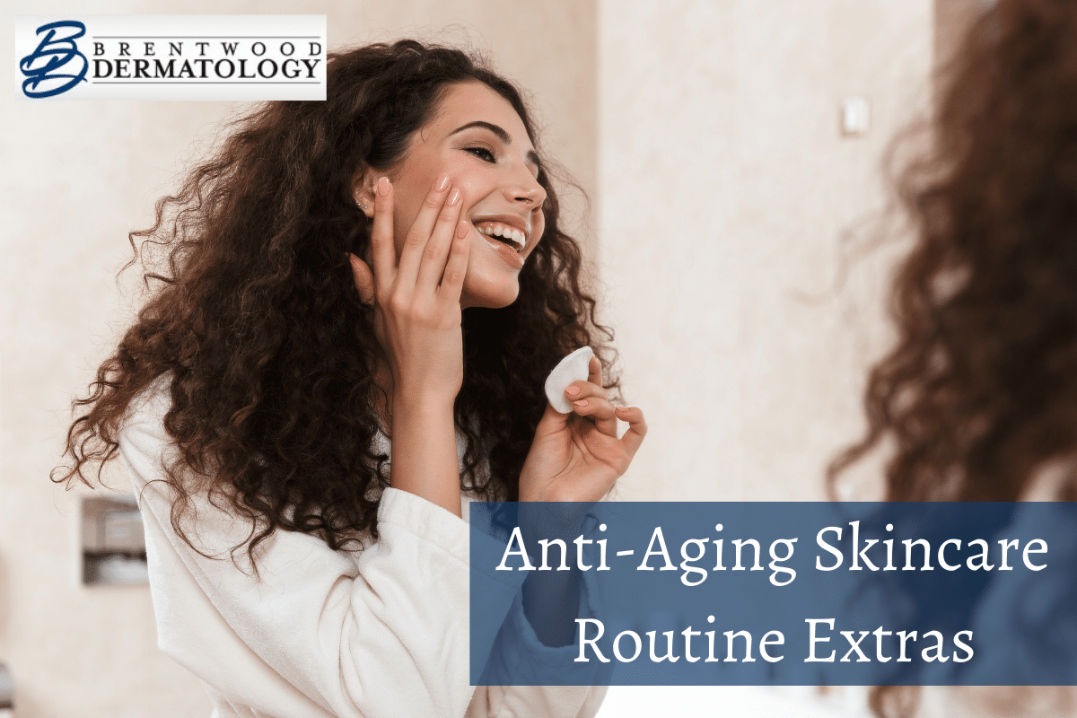 Woman Applying An Anti-aging Moisturizer, Which Is A Great Anti-aging Skincare Routine Extra.